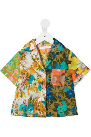 Zimmermann Kids Girls Shirts - Floral-print short-sleeve shirt