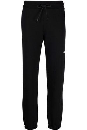 Msgm Women Joggers - Logo detail jersey sweatpants