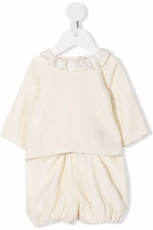 Bonpoint Ruffle-collar trouser set
