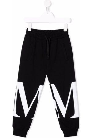 Msgm Logo-print cotton track pants