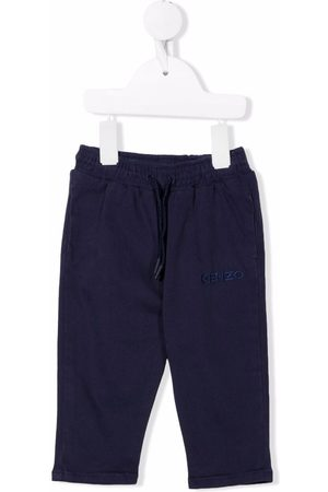 Kenzo Logo-embroidered drawstring trousers