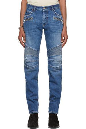 Balmain Ribbed Tapered Jeans