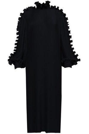 Balenciaga Flounced Ribbed-crepe Dress - Womens