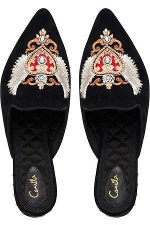 Camilla eBoutique Embroidered Slipper Solid