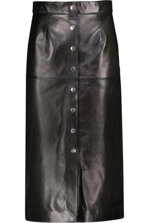 Isabel Marant Blehor high-rise leather midi skirt