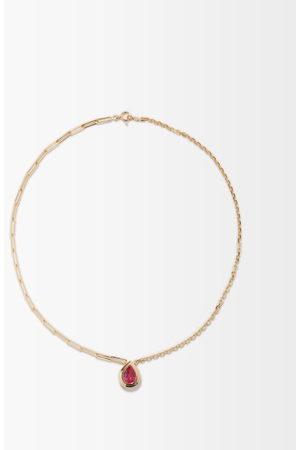 YVONNE LÉON Corundum & 18kt Gold Necklace - Womens