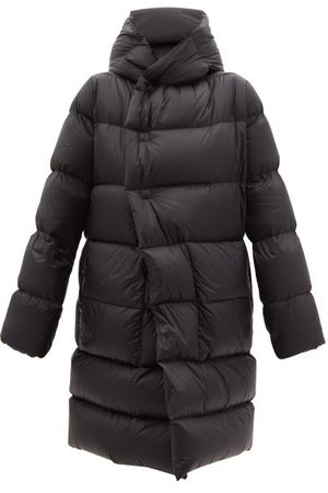 Rick Owens Wrap-front Hooded Quilted Down Coat - Womens