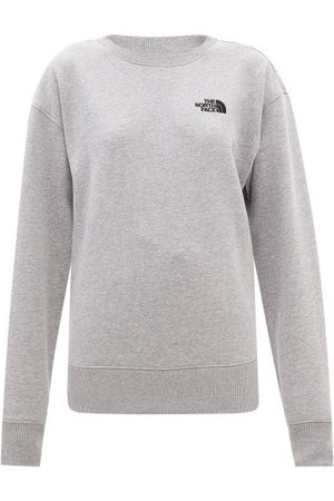 The North Face Logo-embroidered Cotton-blend Jersey Sweatshirt - Womens - Light