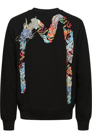 Evisu Dragon-embroidered Daicock Print Sweatshirt