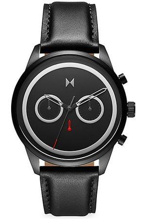 MVMT Power Lane Diablo Leather Strap Watch