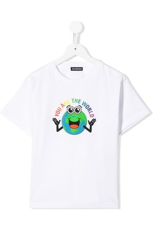 "Balenciaga Boys Short Sleeve - ""You Are the World"" T-shirt"