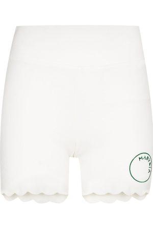 Marysia Women Sports Shorts - Billie Jean scalloped running shorts