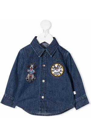 Stella McCartney Shirts - Patch-detail denim shirt