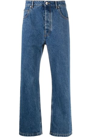 Opening Ceremony Men Straight - Logo-embroidered straight-leg jeans