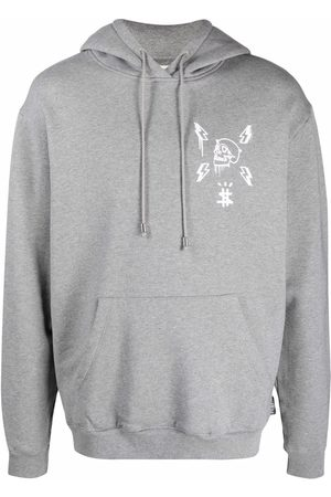 Philipp Plein Men Hoodies - Hexagon logo-print hoodie