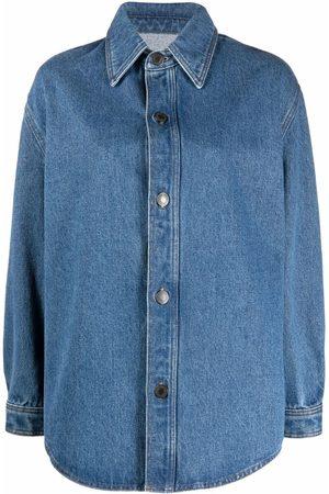 Ami Women Long sleeves - Long-sleeve denim overshirt