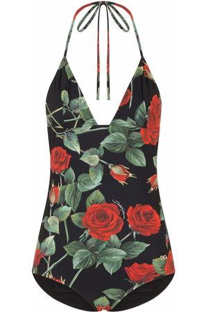 Dolce & Gabbana Women Swimsuits - Rose-print swimsuit