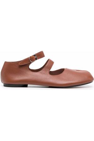 Maison Margiela Women Ballerinas - Tabi ankle-strap ballerina shoes