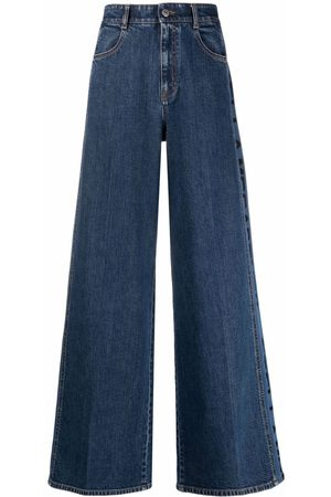 Stella McCartney Logo-print wide-leg jeans