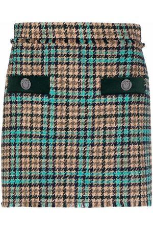 Pinko Houndstooth-pattern mini skirt