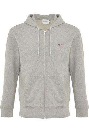Maison Kitsuné Tricolor fox patch zipped hoodie