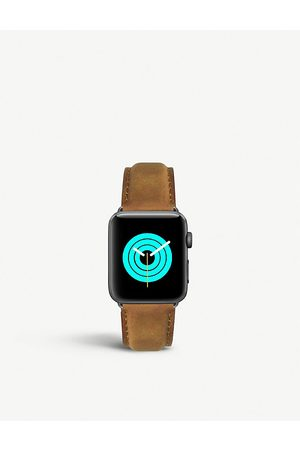 Mintapple Men Watches - Apple Watch matte coated stainless steel and suede strap 42mm/44mm
