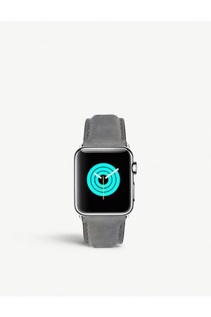 Mintapple Apple Watch stainless steel and suede strap 42mm/44mm