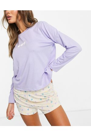 Heartbreak Multicoloured heart print pyjama set