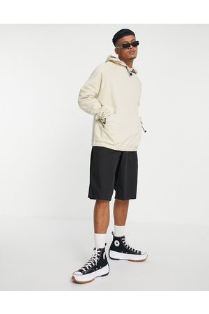 ASOS Organic co-ord oversized hoodie with toggle details in beige-Neutral