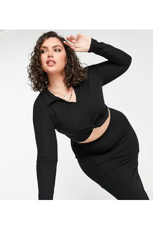 Missguided Co-ord twist front polo top in