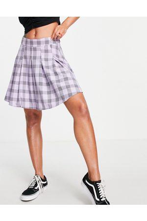 Lola May Pleated tennis mini skirt in -Purple