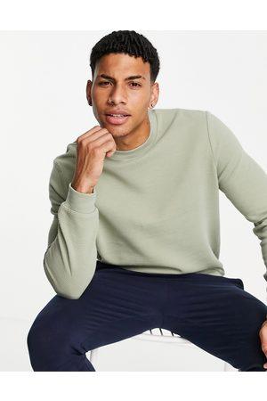 ASOS Co-ord sweatshirt in green rib
