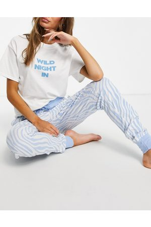 Heartbreak Pyjama set in zebra print