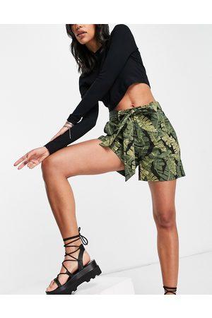 Object Women Shorts - Tie waist shorts co-ord in -Green