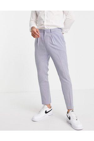 ASOS Men Formal Pants - Tapered suit pants with mini herringbone nepp in