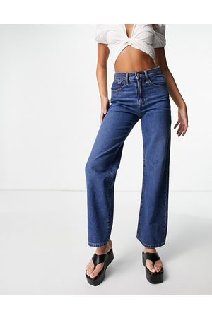 ONLY Hope wide leg jeans in mid