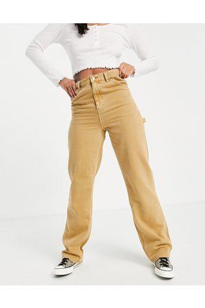 Topshop Carpenter jeans in -Neutral