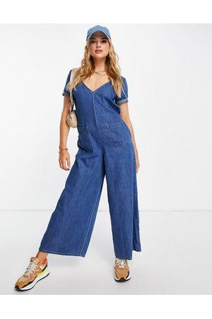 ASOS Women Jumpsuits - Soft denim jumpsuit in -Blue