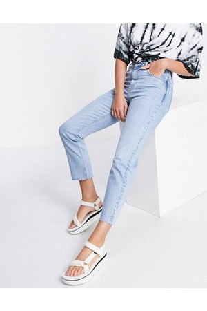 Topshop Straight jeans in -Blue