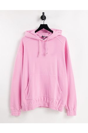 ASOS Oversized hoodie in washed pink