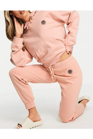 Rip Curl Rip Curl Surfers Original tracksuit bottoms co-ord in -Brown