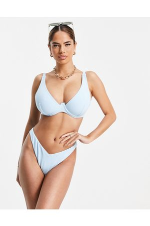 ASOS Fuller Bust mix and match towelling step front underwired bikini top in