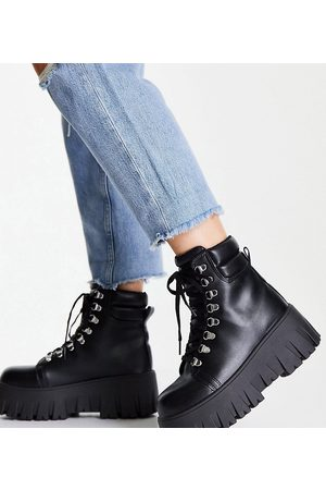 ASOS Wide Fit Anastasia chunky hiker lace-up boots in