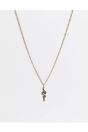 WFTW Figaro chain snake pendant in