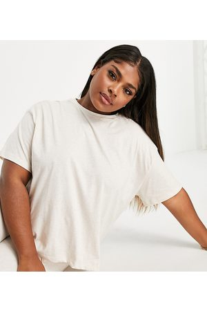 ASOS ASOS DESIGN Curve mix & match jersey pyjama tee in -White