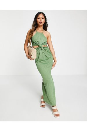 ASOS Racer cut out knot maxi dress in
