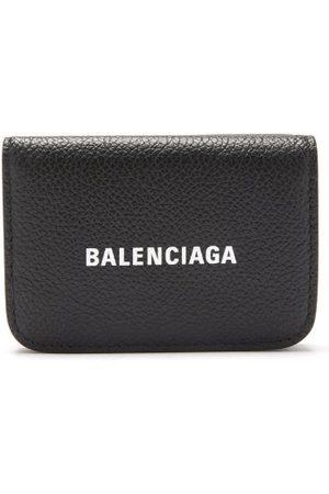 Balenciaga Cash Logo-print Grained-leather Wallet - Womens