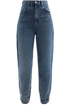 Isabel Marant Women Bootcut & Flares - Ticosy Tapered Wide-leg Jeans - Womens - Mid Denim