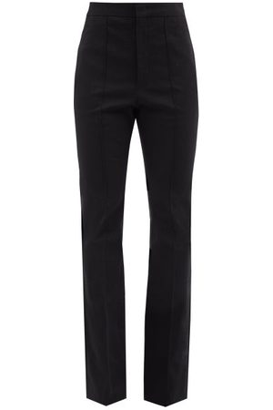 Isabel Marant Livelyo Cotton-blend Crepe Bootcut Trousers - Womens