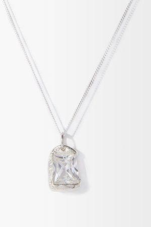 Bleue Burnham The Rose Crystal & Sterling- Necklace - Mens